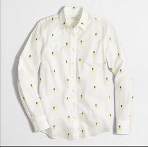J.crew pineapple women's Button Down Shirt XL
